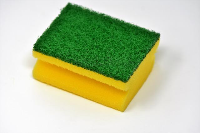 žlutá houbička